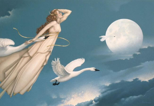 Michael Parkes, New Moon Full Moon