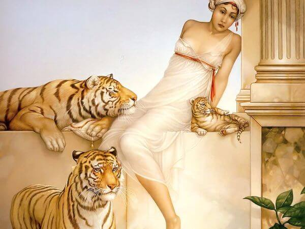 Michael Parkes, Tigers And Girl