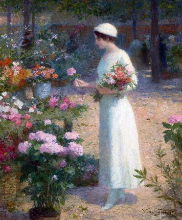 Victor Gabriel Gilbert, Picking Flowers