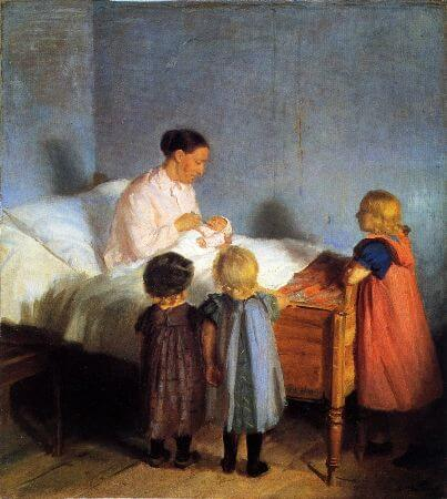 Anna Ancher, Baby Brother, 1905
