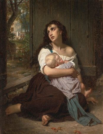 Hugues Merle, L'abandonnee, 1872