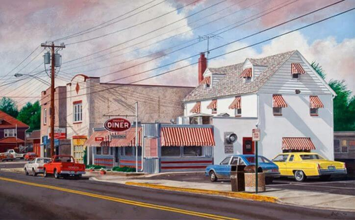John Baeder, Angelo's Diner, 2008