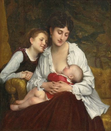 Leon-Jean-Basile Perrault, Motherly Love, 1872