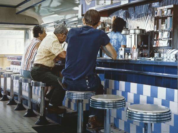 Ralph Goings, Tiled Lunch Counter, 1979