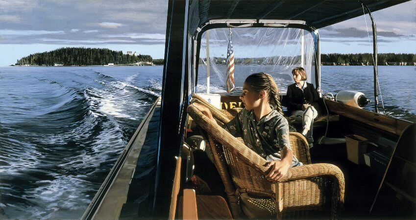 Richard Estes, Water Taxi, Mount Desert, 1999