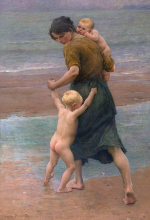 Virginie Demont-Breton, Into The Water, 1898