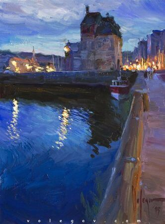 Vladimir Volegov, Honfleur Late Evening
