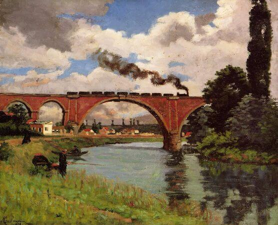 Armand Guillaumin, Bridge Over The Marne At Joinville, 1871