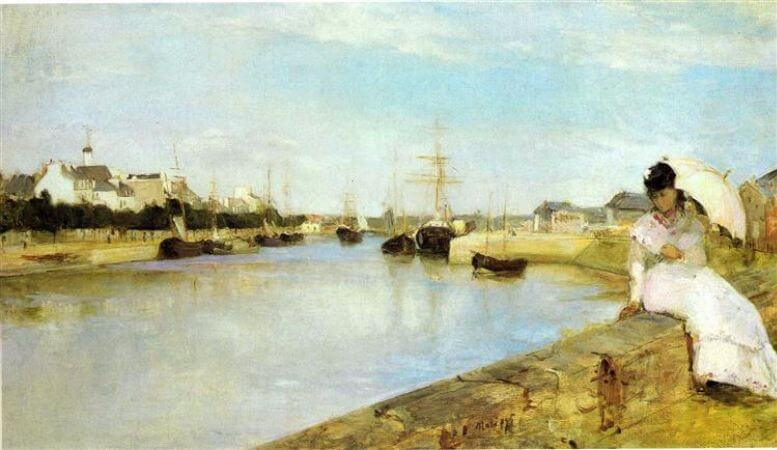 Berthe Morisot, The Harbor at Lorient, 1869