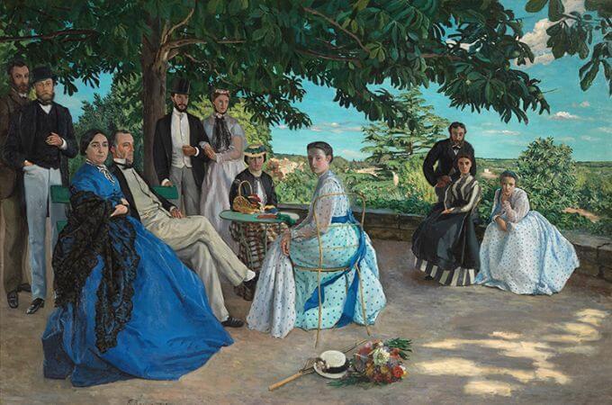 Frederic Bazille, Reunion de famille, 1867