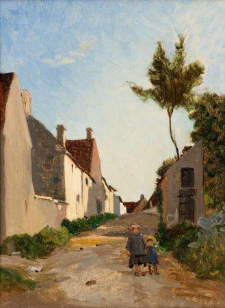 Frederic Bazille, Village Street, 1865