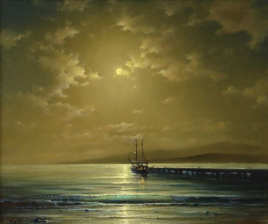 George Dmitriev, Moonlit Night On The Aegean Sea