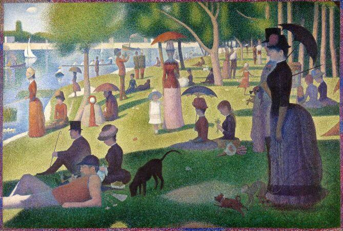 Georges Seurat, Sunday Afternoon On The Island Of La Grande Jatte, 1886