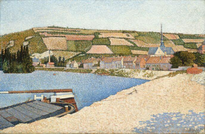 Paul Signac, Les Andelys, Cote d'Aval, 1886