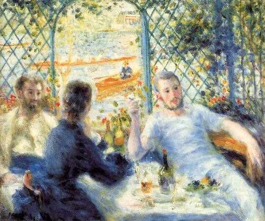 Pierre-Auguste Renoir, Lunch At The Restaurant, 1875