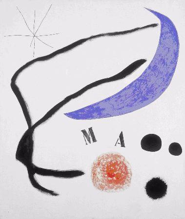 joan miro, Poeme III, 1968