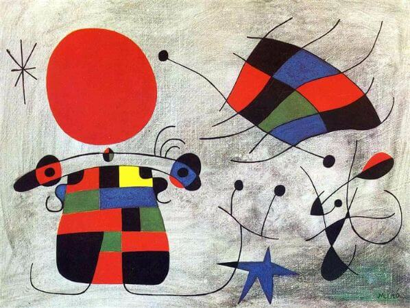 joan miro, The Smile of the Flamboyant Wings, 1953