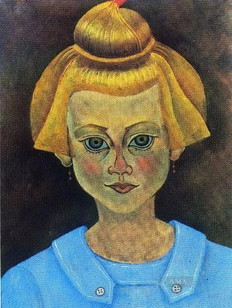 joan miro, portrait of a young girl, 1919