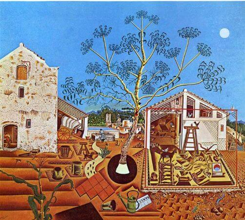 joan miro, the farm, 1922