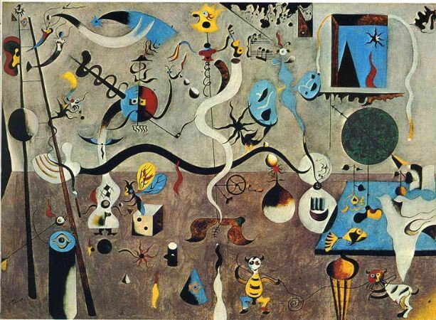joan miro, the harlequin's carnival, 1924