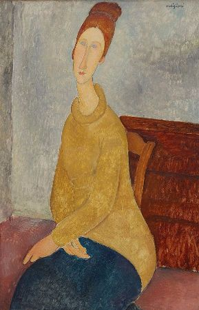 Amedeo Modigliani, Jeanne Hebuterne With Yellow Sweater, 1919