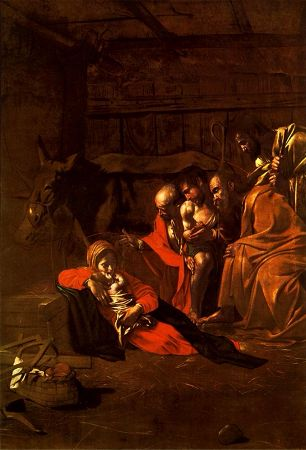 Caravaggio, Adoration of the Shepherds, 1609