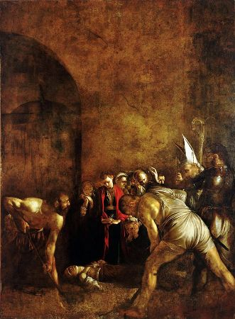 Caravaggio, Burial of Saint Lucy, 1608
