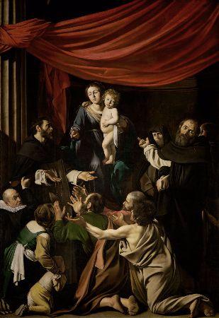 Caravaggio, Madonna del Rosario, 1607