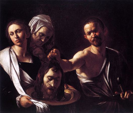 Caravaggio, Salome with the Head of John the Baptist, 1607