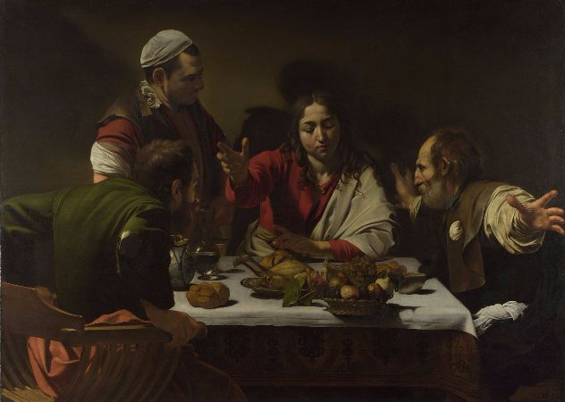 Caravaggio, Supper at Emmaus, 1601