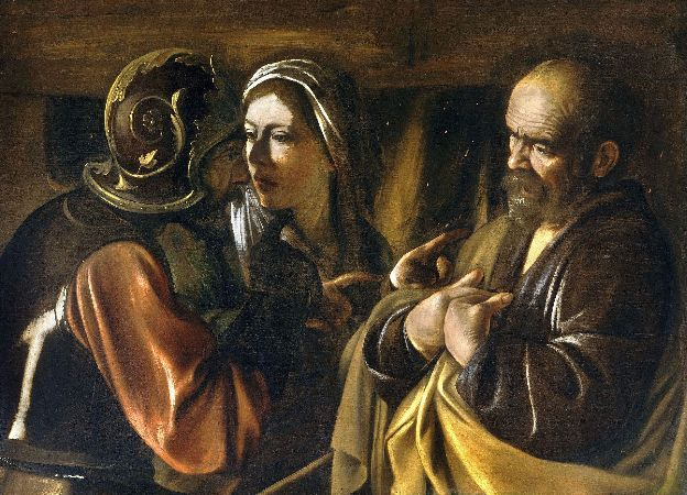 Caravaggio, The Denial of Saint Peter, 1610