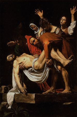 Caravaggio, The Entombment of Christ, 1602-1604