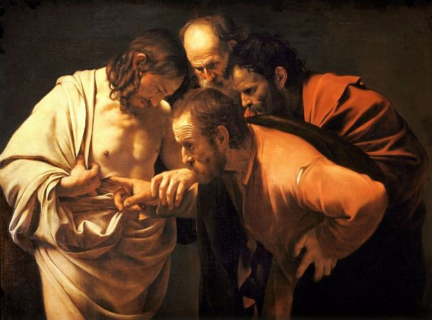 Caravaggio, The Incredulity of Saint Thomas, 1601-1602