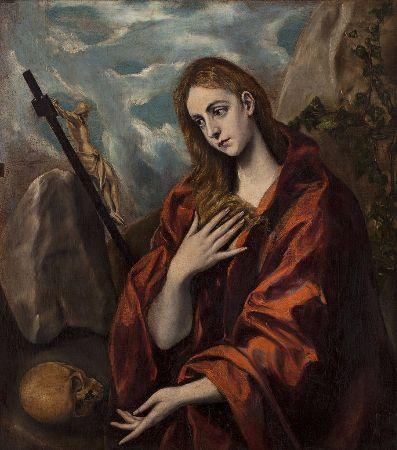 El Greco, Magdalena Penitente, 1585-1590