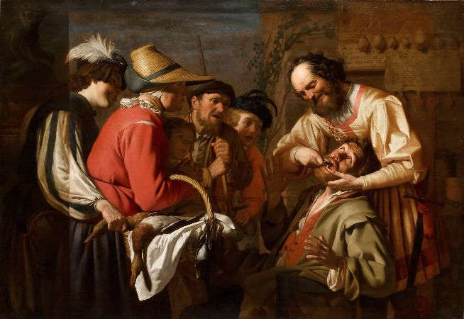 Gerrit van Honthorst, The Tooth Puller, 1628