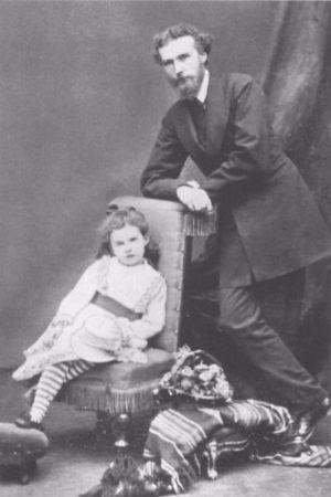 Gertrude Bell, babasi ile
