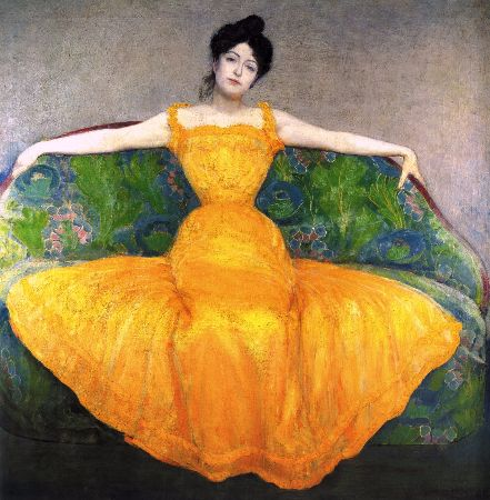 Max Kurzweil, Woman In Yellow, 1899
