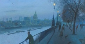 Nicholas Hely Hutchinson, Dusk On The Southbank