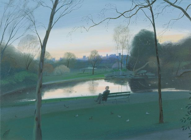 Nicholas Hely Hutchinson, In The Fading Light, St Stephen's Green