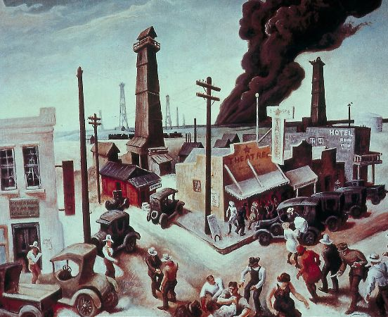 Thomas Hart Benton, Boomtown, 1928