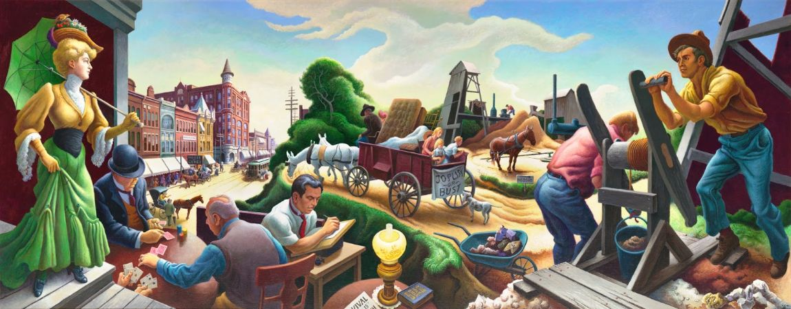 Thomas Hart Benton, Joplin At The Turn Of The Century, 1906