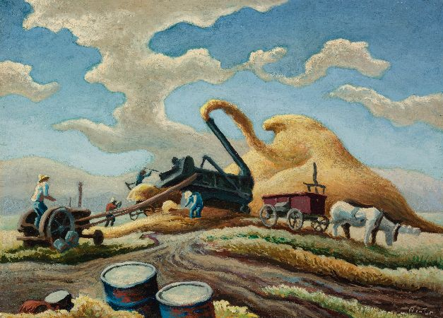 Thomas Hart Benton, Rice Threshing