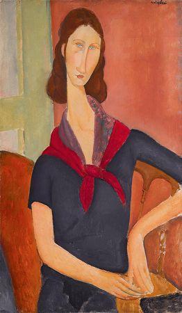 Amedeo Modigliani, Jeanne Hebuterne (au foulard), 1919