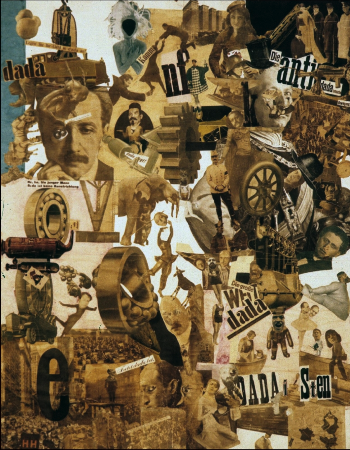 Hannah Hoch, Incision With The Dada Kitchen Knife Through Germany's Last Weimar Beer-belly, 1920