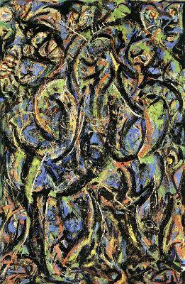 Jackson Pollock, Gothic, 1944