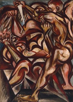 Jackson Pollock, Man With Knife, 1938-40
