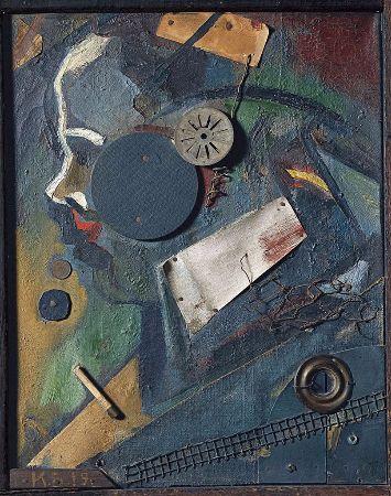 Kurt Schwitters, Merzbild 1A, The Psychiatrist, 1919
