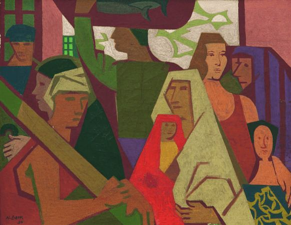 Nurullah Berk, Figurlu Kompozisyon, 1950