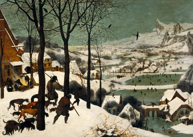 Pieter Bruegel, The Hunters In The Snow, 1565