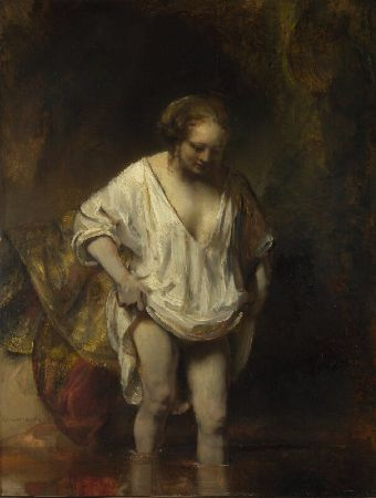 Rembrandt, A Woman Bathing In a Stream (Hendrickje Stoffels), 1654